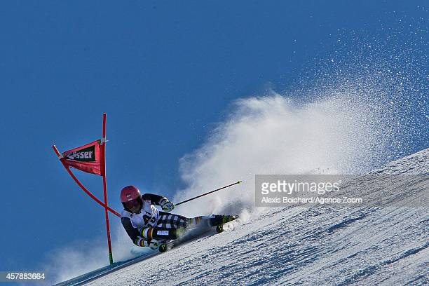 Marcus Sandell of Finland competes during the Audi FIS Alpine Ski World Cup Men's Giant Slalom on October 26 2014 in Soelden Austria