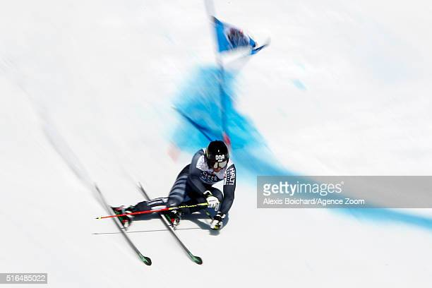 Marcus Sandell of Finland in action during the Audi FIS Alpine Ski World Cup Finals Men's Giant Slalom and Women's Slalom on March 19 2016 in St...