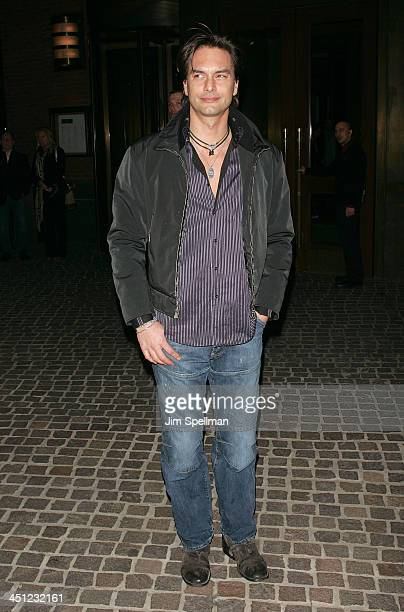 Marcus Schenkenberg arrives at The Cinema Society and Piaget Host a Screening of Flawless at the Tribeca Grand Hotel on March 24 2008 in New York City