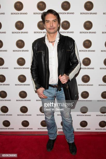 Marcus Schenkenberg attends the Bergen Brand Handbag launch at Wolf Badger on March 16 2017 in London England