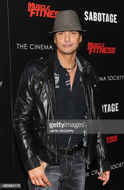 Marcus Schenkenberg attends The Cinema Society with Muscle Fitness screening of Open Road Films' Sabotage at AMC Loews Lincoln Square on March 25...