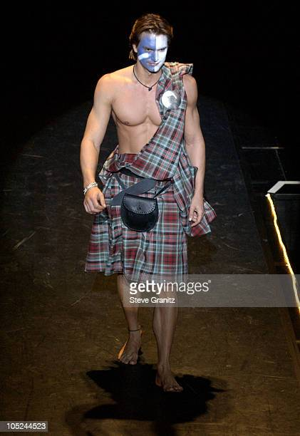 Marcus Schenkenberg during Celebrities Bare Legs For Dewar's Dressed To Kilt Charity Event Show at Wiltern Theatre in Los Angeles California United...