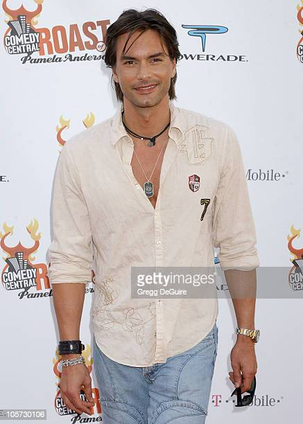 Marcus Schenkenberg during Comedy Central Roast of Pamela Anderson Arrivals at Sony Studios in Culver City California United States