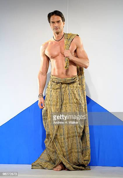 "Marcus Schenkenberg walks the runway at the 8th annual ""Dressed To Kilt"" Charity Fashion Show presented by Glenfiddich at M2 Ultra Lounge on April 5,..."