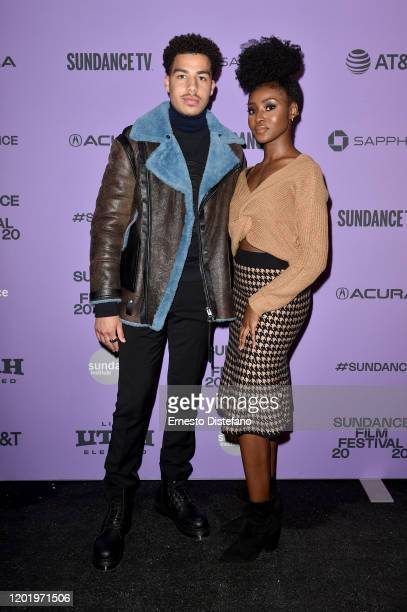 Marcus Scribner and Jayme Lawson attends the 2020 Sundance Film Festival Farewell Amor Premiere at Library Center Theater on January 25 2020 in Park...