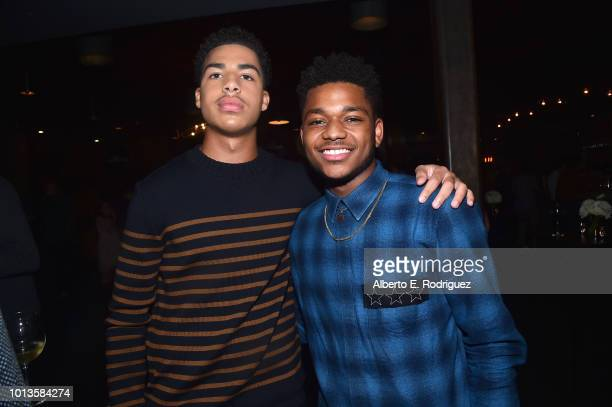 Marcus Scribner and Nathan Anderson attend the after party for a screening of Netflix's 'All About The Washingtons' on August 8 2018 in Hollywood...