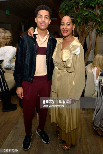 Marcus Scribner and Tracee Ellis Ross attend The Hollywood Reporter SAGAFTRA 2nd annual Emmy Nominees Night presented by Douglas Elliman at Avra...