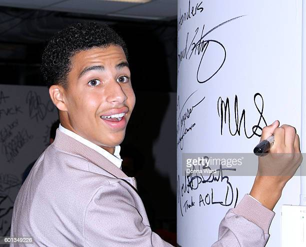 """Marcus Scribner appears to promote """"black-ish"""" during the AOL BUILD Series at AOL HQ on September 9, 2016 in New York City."""