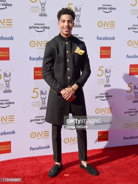 Marcus Scribner arrives at the 50th NAACP Image Awards at Dolby Theatre on March 30 2019 in Hollywood California