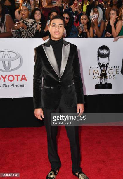 Marcus Scribner at the 49th NAACP Image Awards on January 15 2018 in Pasadena California