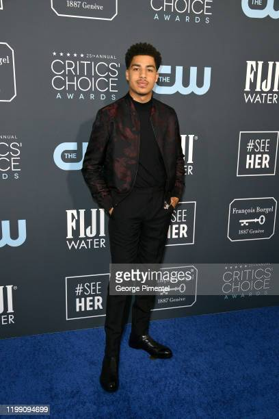 Marcus Scribner attends the 25th Annual Critics' Choice Awards held at Barker Hangar on January 12, 2020 in Santa Monica, California.