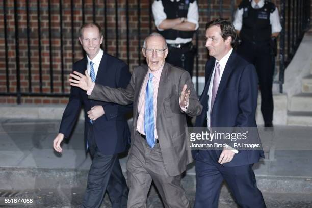Marcus Setchell Surgeon Gynaecologist to Queen with other members of his team names not known leaves the St Mary's Hospital in London following the...