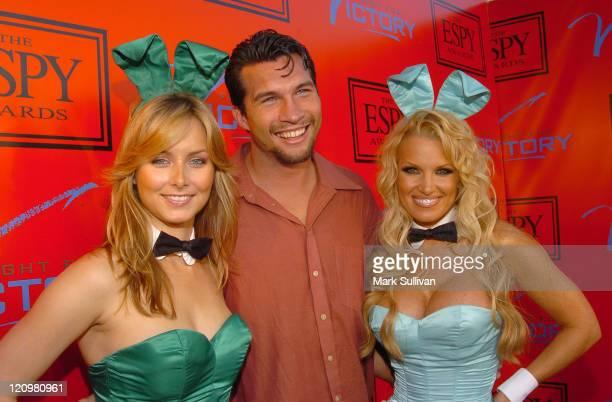 Marcus Shirock with Playboy Playmates Marketa Janska and Tina Jordan