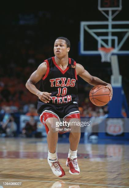 Marcus Shropshire, Guard for the Texas Tech Red Raiders during the NCAA Big 12 tournament college basketball game against the Oklahoma State Cowboys...