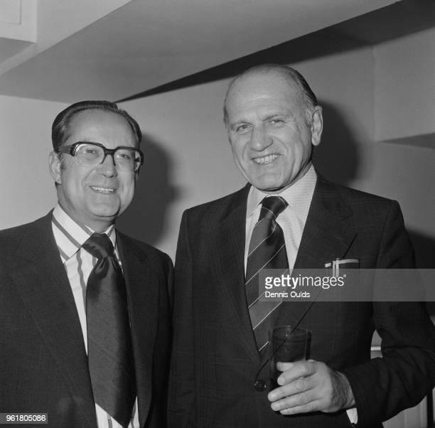 Marcus Sieff chairman of retailer Marks Spencer 14th November 1975