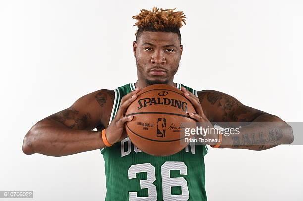 Marcus Smart of the Boston Celtics poses for a portrait during 20162017 Boston Celtics Media Day at TD Garden on September 26 2016 in Boston...