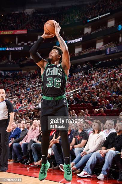 Marcus Smart of the Boston Celtics shoots the ball against the Houston Rockets on December 27 2018 at the Toyota Center in Houston Texas NOTE TO USER...