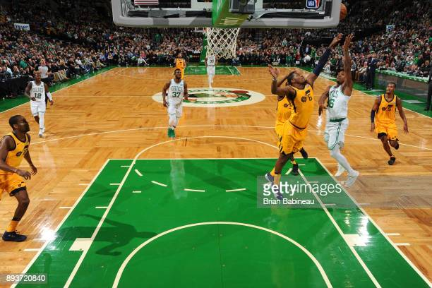 Marcus Smart of the Boston Celtics shoots the ball against the Utah Jazz on December 15 2017 at the TD Garden in Boston Massachusetts NOTE TO USER...