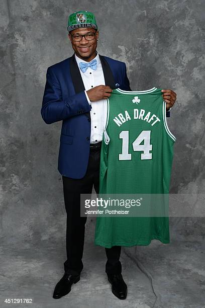 Marcus Smart the sixth pick overall by the Boston Celtics poses for a portrait during the 2014 NBA Draft at the Barclays Center on June 26 2014 in...