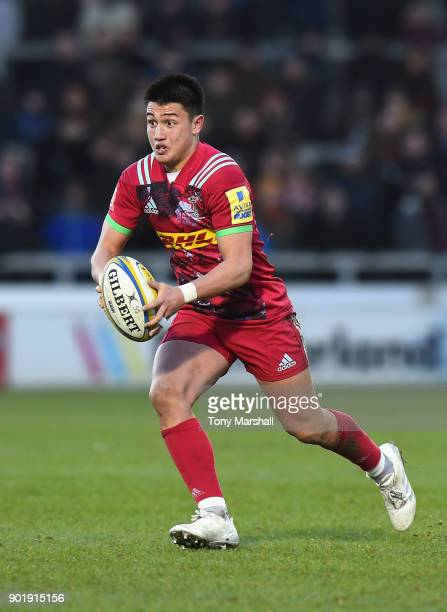 Marcus Smith of Harlequins during the Aviva Premiership match between Sale Sharks and Harlequins at AJ Bell Stadium on January 6 2018 in Salford...