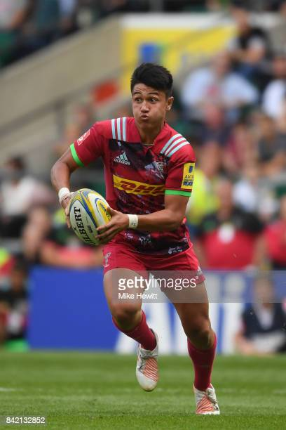 Marcus Smith of Harlequins in action during the Aviva Premiership match between London Irish and Harlequins at Twickenham Stadium on September 2 2017...