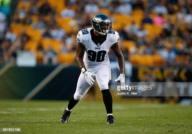 Marcus Smith of the Philadelphia Eagles in action during the game against the Pittsburgh Steelers on August 18 2016 at Heinz Field in Pittsburgh...