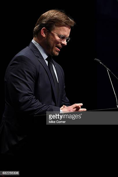 Marcus Smith speaks during the NASCAR Hall of Fame Induction Ceremony at the NASCAR Hall of Fame on January 20 2017 in Charlotte North Carolina