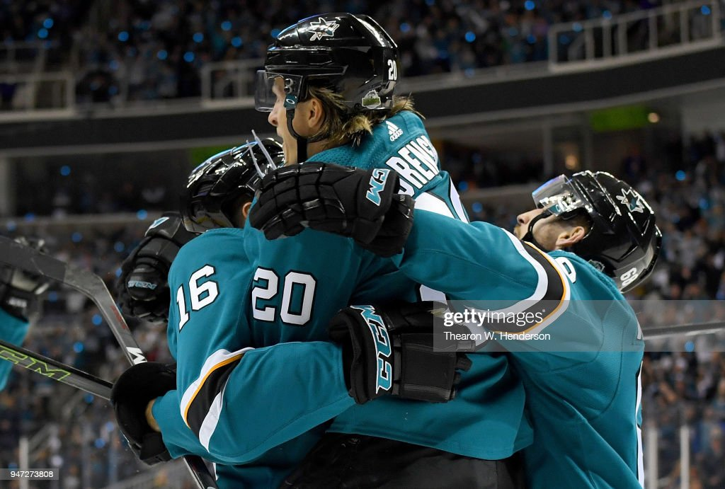 Anaheim Ducks v San Jose Sharks - Game Three : News Photo