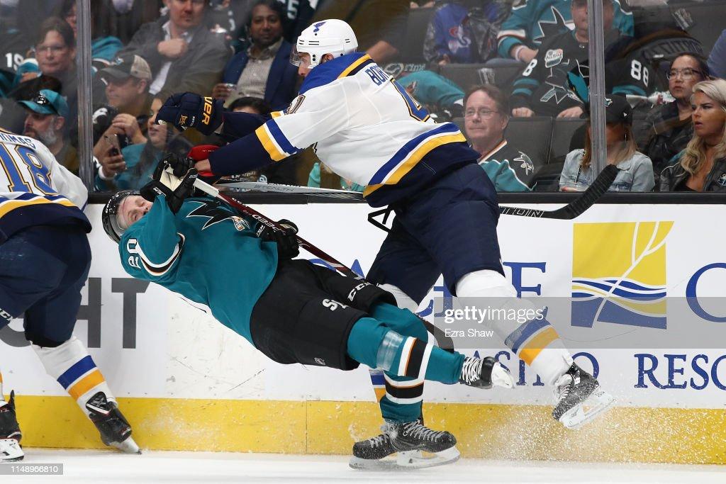 St Louis Blues v San Jose Sharks - Game Two : News Photo