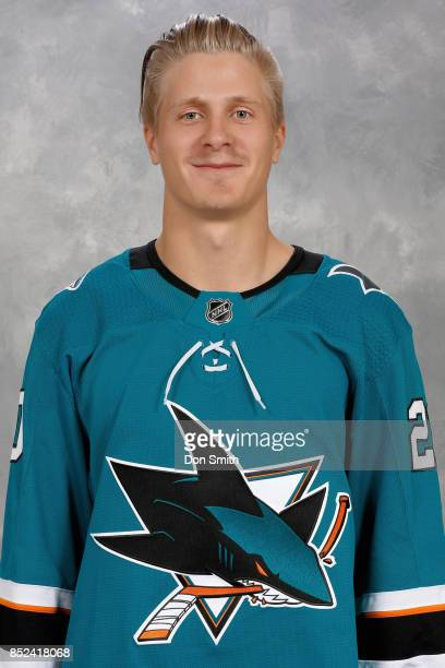 Marcus Sorensen of the San Jose Sharks poses for his official headshot for the 201718 season on September 14 2017 at Sharks Ice in San Jose California