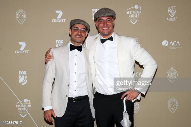 Marcus Stoinis attends the 2019 Australian Cricket Awards at Crown Palladium on February 11 2019 in Melbourne Australia