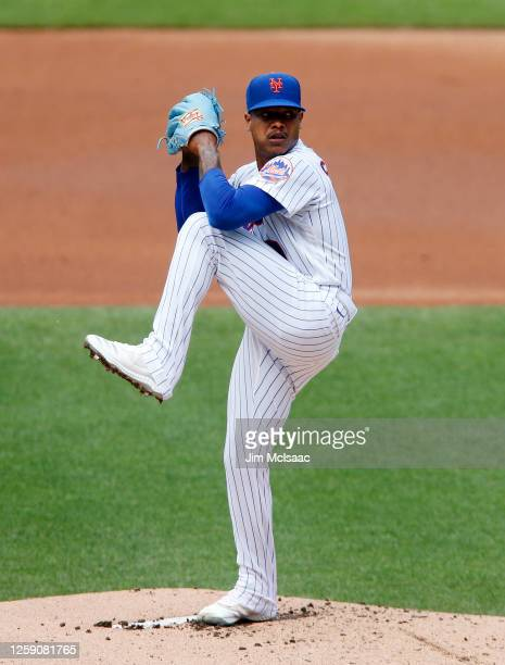 Marcus Stroman of the New York Mets in action during an intra squad game at Citi Field on July 17, 2020 in New York City.
