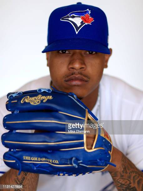 Marcus Stroman of the Toronto Blue Jays poses for a portrait during photo day at Dunedin Stadium on February 22 2019 in Dunedin Florida