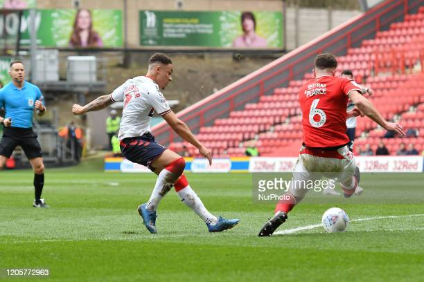 Marcus Tavernier in action during the Sky Bet Championship match between Charlton Athletic and Middlesbrough at The Valley London on Saturday 7th...