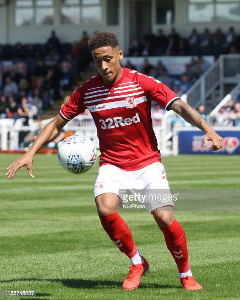 Marcus Tavernier of Middlesbrough during the Pre-season Friendly match between Hartlepool United and Middlesbrough at Victoria Park, Hartlepool on...