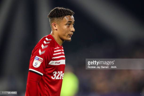Marcus Tavernier of Middlesbrough during the Sky Bet Championship match between Huddersfield Town and Middlesbrough at John Smith's Stadium on...