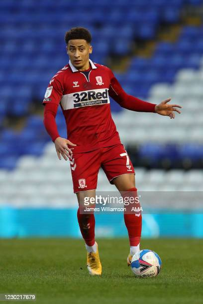 Marcus Tavernier of Middlesbrough during the Sky Bet Championship match between Birmingham City and Middlesbrough at St Andrew's Trillion Trophy...