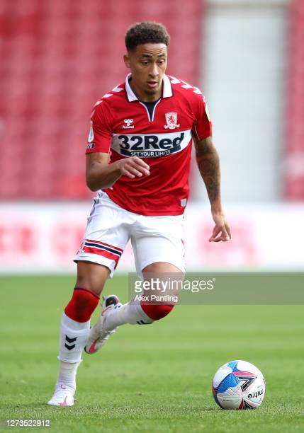 Marcus Tavernier of Middlesbrough during the Sky Bet Championship match between Middlesbrough and AFC Bournemouth at Riverside Stadium on September...