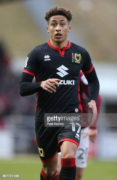 Marcus Tavernier of Milton Keynes Dons in action during the Sky Bet League One match between Northampton Town and Milton Keynes Dons at Sixfields on...