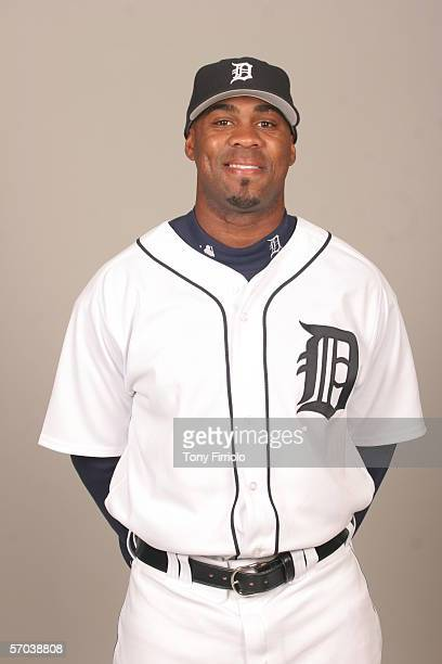 Marcus Thames of the Detroit Tigers during photo day at Marchant Stadium on February 26 2006 in Lakeland Florida