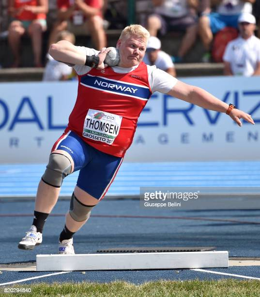 Marcus Thomsen of Norway wins Shot Put Men during European Athletics U20 Championships on July 21 2017 in Grosseto Italy