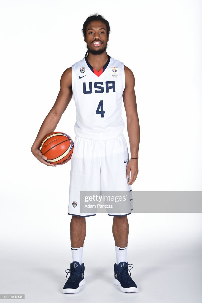 Marcus Thornton #4 of Team USA poses for a portrait on February 20, 2018 at the LA Clippers Training Center in Playa Vista, California.