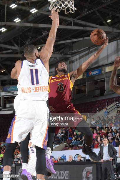 Marcus Thornton of the Canton Charge drives to the basket against the Northern Arizona Suns during the GLeague Showcase on January 12 2018 at the...