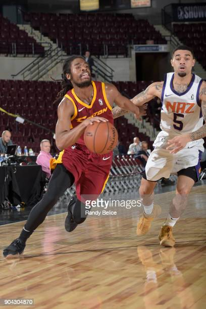 Marcus Thornton of the Canton Charge handles the ball against the Northern Arizona Suns during the GLeague Showcase on January 12 2018 at the Hershey...
