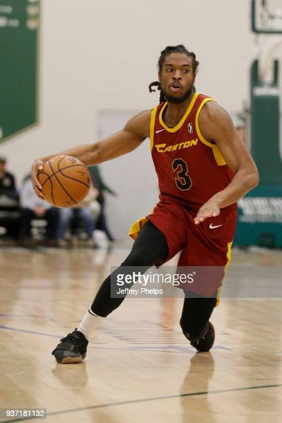 Marcus Thornton of the Canton Charge handles the ball against the Wisconsin Herd during the NBA GLeague game on March 23 2018 at the Menominee Nation...