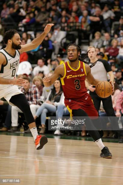 Marcus Thornton of the Canton Charge handles the ball during the game against the Wisconsin Herd during the NBA GLeague game on March 23 2018 at the...