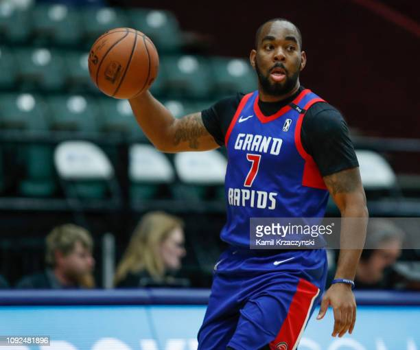 Marcus Thornton of the Grand Rapids Drive brings the ball up court against the Westchester Knicks during the first half of an NBA GLeague game on...