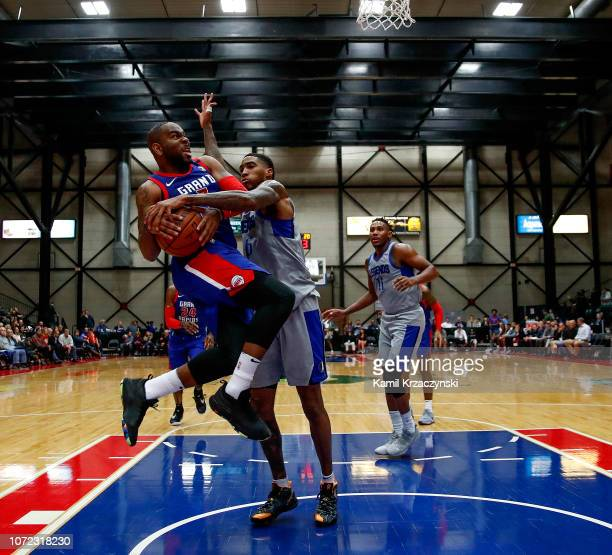 Marcus Thornton of the Grand Rapids Drive drives to the basket against the Texas Legends on December 12 2018 at DeltaPlex Arena in Grand Rapids...