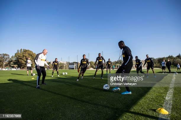 Marcus Thuram of Borussia Moenchengladbach in action during the Borussia Moenchengladbach Training Camp on January 06 2020 in Jerez de la Frontera...