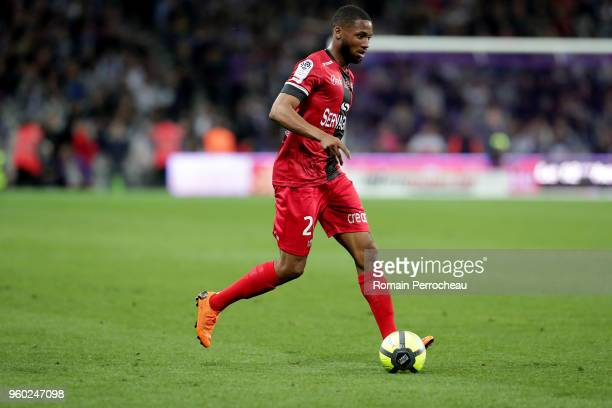 Marcus Thuram of Guingamp in action during the Ligue 1 match between Toulouse and EA Guingamp at Stadium Municipal on May 19 2018 in Toulouse